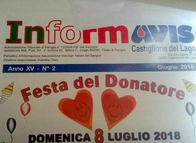 Informavis - pubblicazione periodica Avis Castiglione del Lago