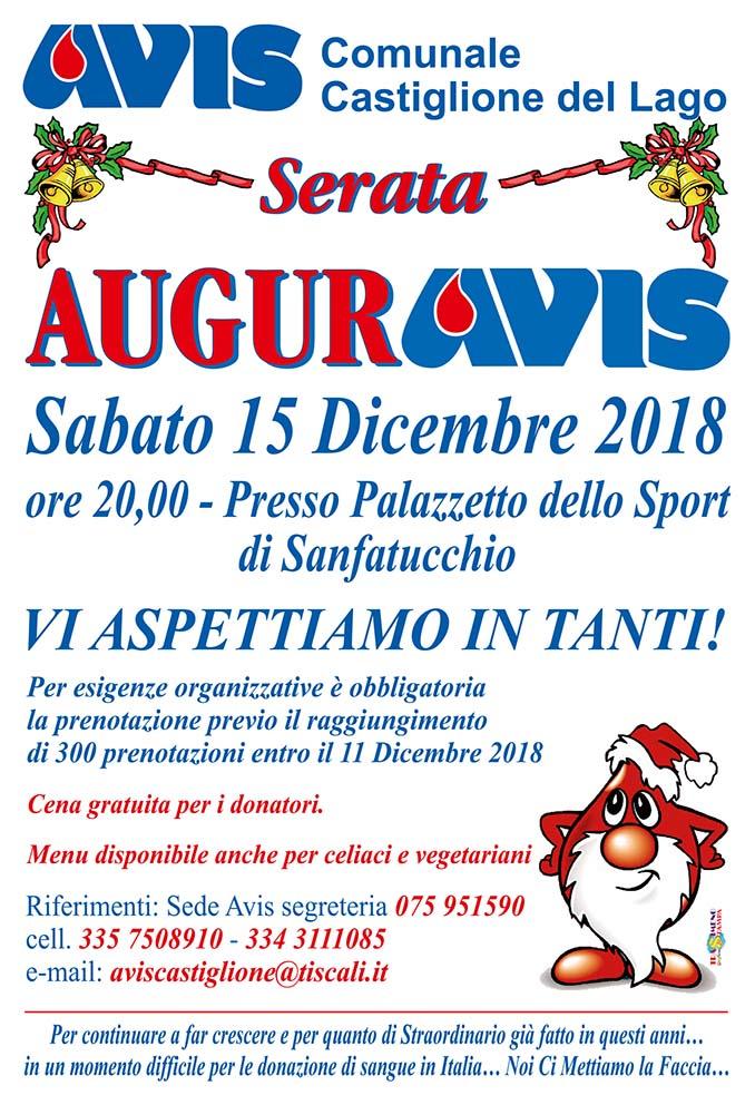 Avis Castiglione del Lago - Cena degli Auguri di Natale 2018 - sabato 15 dicembre 2018