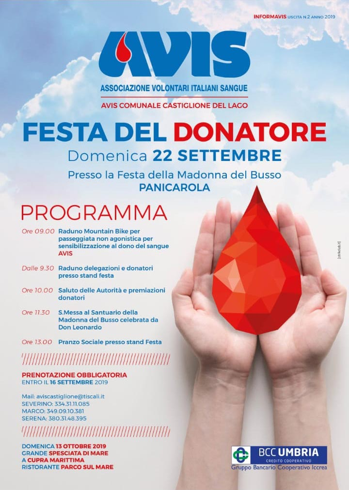 Avis Castiglione del Lago - campagna per le donazioni estive