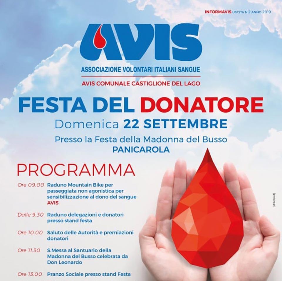 Festa del Donatore Avis Castiglione del Lago 2019