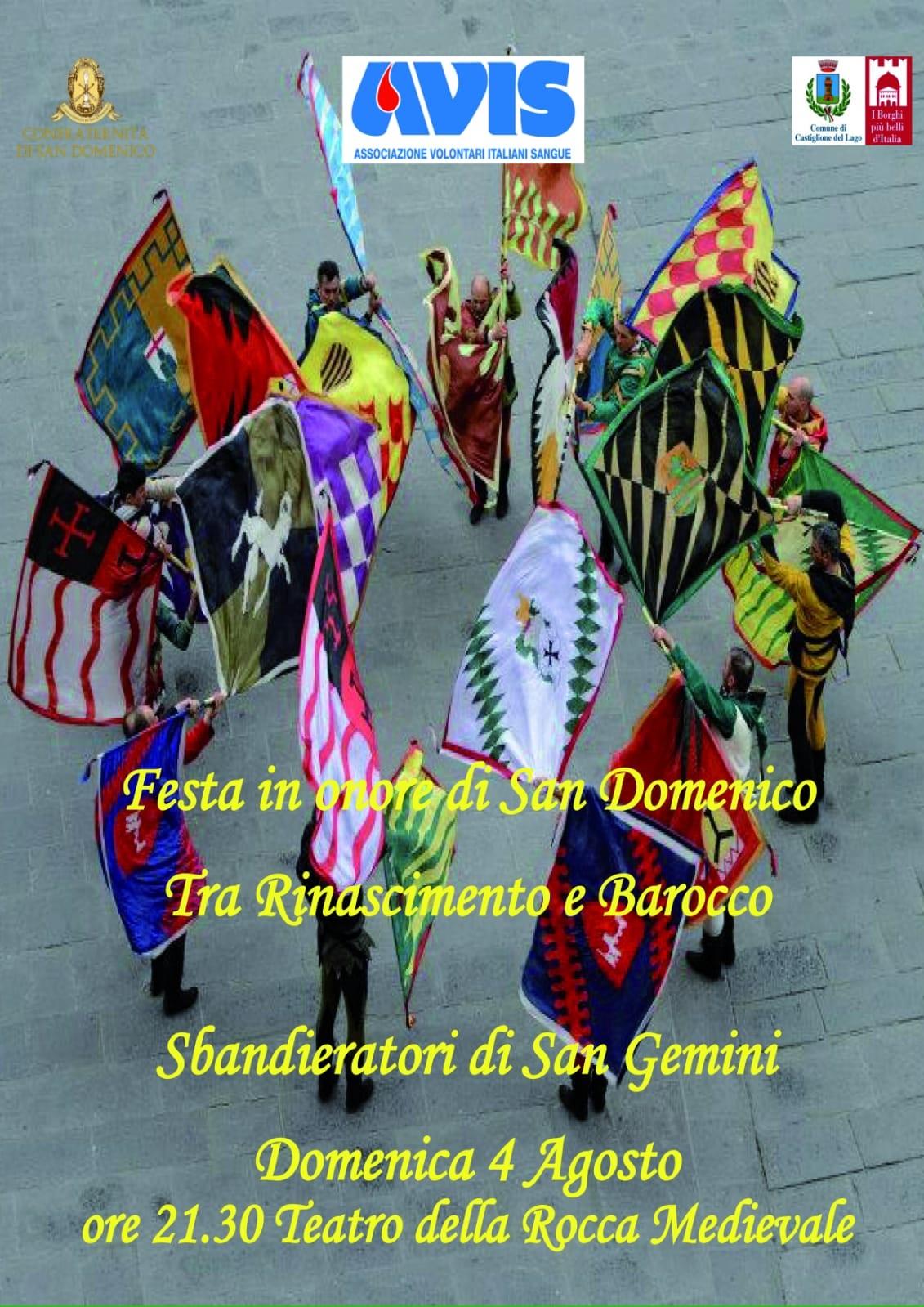 Sbandieratori di San Gemini a Castiglione del Lago - domenica 4 agosto